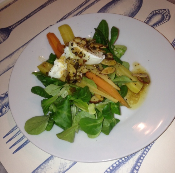 A Baby Carrot Salad from A Moveable Feast Cooking Class