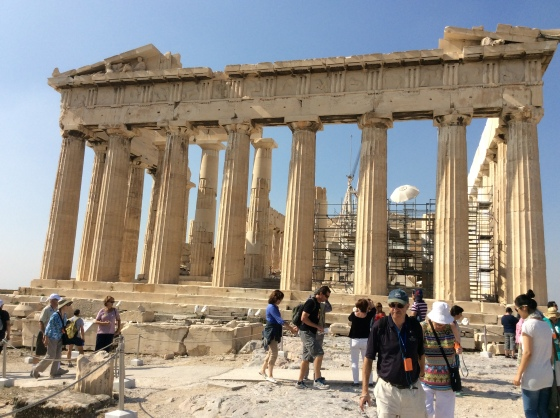 the side of the Parthenon