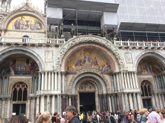 the front of St. Mark's Basilica