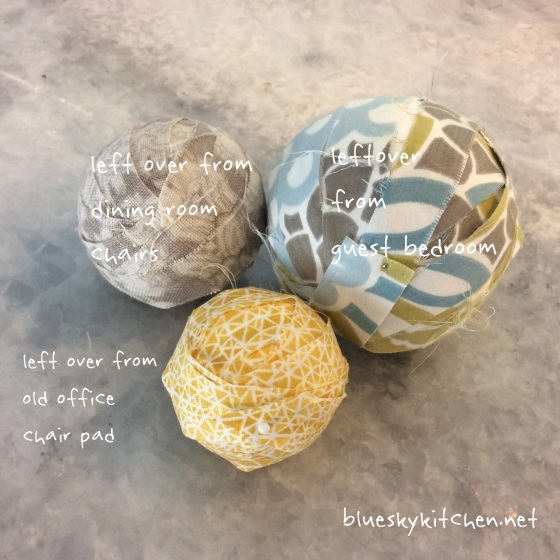 How to Make Fabric-Covered Decorative Balls